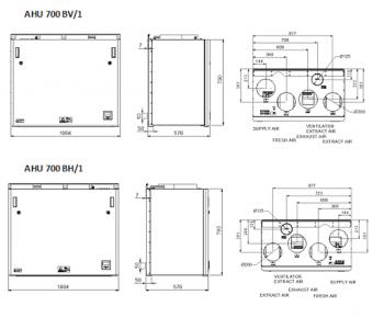 Ensy AHU 700 BH/1 / BV/2  (до 400м2)