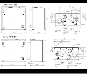 Ensy AHU 400 BH/BV (до 190м2)