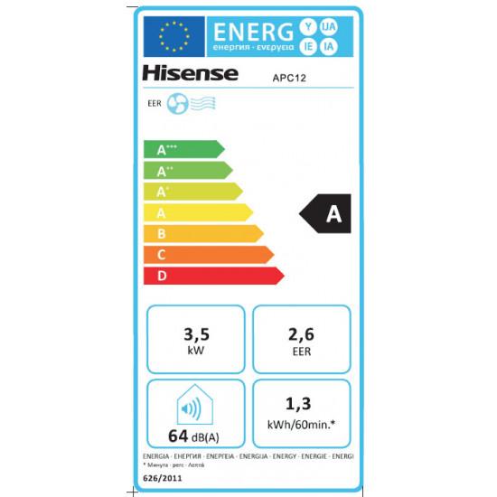 Hisense mobilais kondicionieris 3,5kW (līdz 35m2)