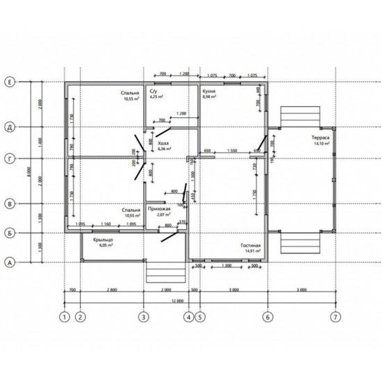 Māja 8 X 9 85m2