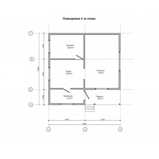 Māja 8 X 8 64m2
